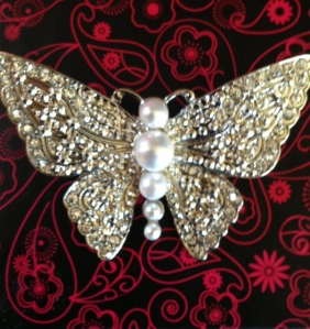 book launch brooch