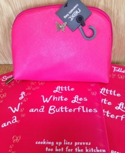 book launch cosmetic bag
